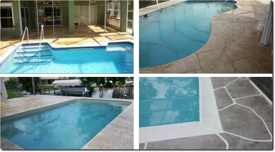 Decorative concrete curbing fort myers fl driveway for Florida pool and deck